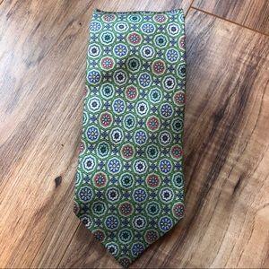 Dunhill Light Green Floral Silk Tie